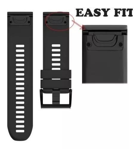 Pulseira sport silicone garmin fenix 3 hr quickfit -black