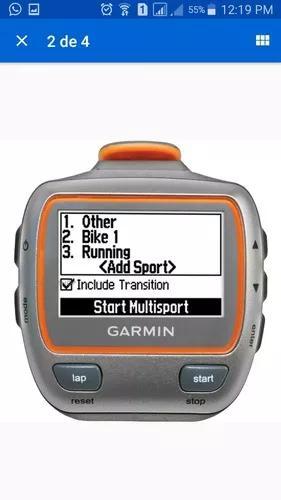 Relógio Garmin Gps Forerunner 310xt Corrida Bike E