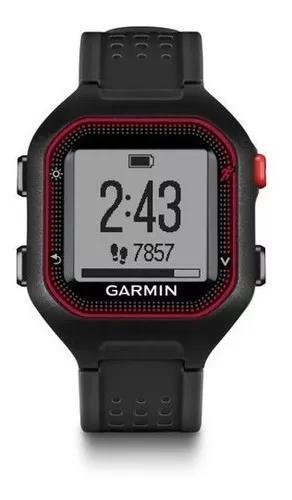 Relógio gps garmin forerunner 25 preto / vermelho original