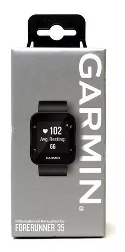 Relógio gps garmin forerunner 35 preto smartwatch lacrado