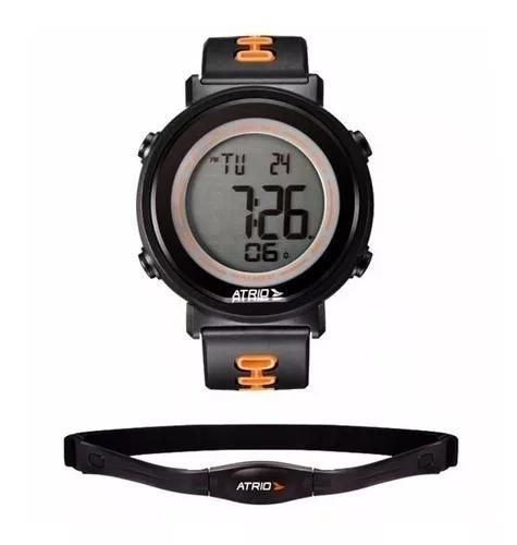 Relógio monitor cardíaco + cinta conta passos calorias