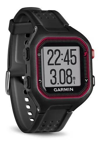 Relógio monitor cardiaco garmin gps forerunner 25 preto