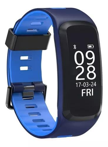Relógio smartwatch f4 monitor cardíaco pressão arterial