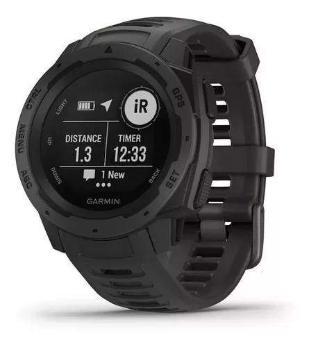 Relógio smartwatch monitor cardiaco gps instinct garmin