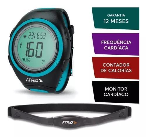 Relogio de corrida monitor cardiaco + cinta toracica preto.