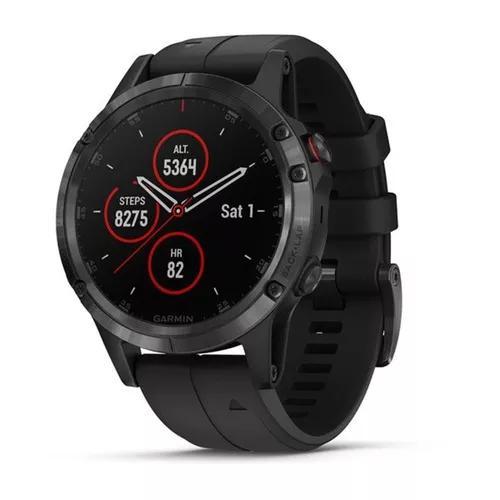 Relogio garmin fenix 5 plus safira smartwatch gps monitor