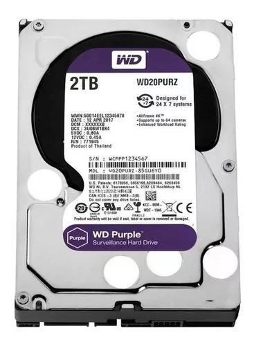 Hd Dvr Cftv 2 Tb Western Digital Purple Wd20purz