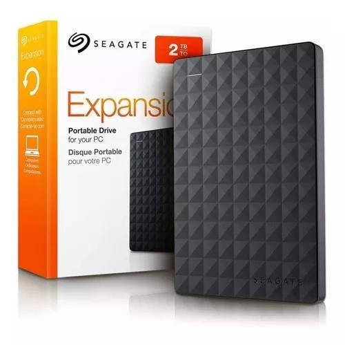 Hd externo portátil seagate 2 terabyte tera 2tb 2000gb