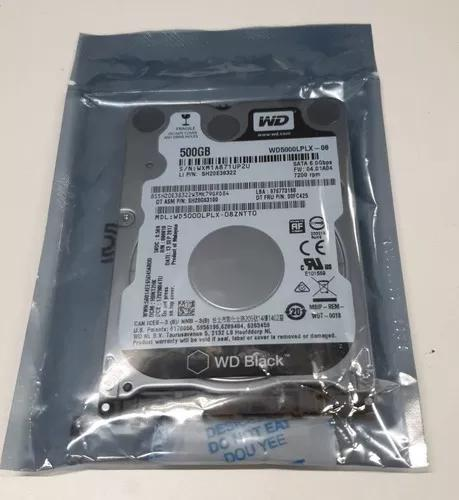Hd notebook 500gb 7200rpm sata3 western digital black 32mb