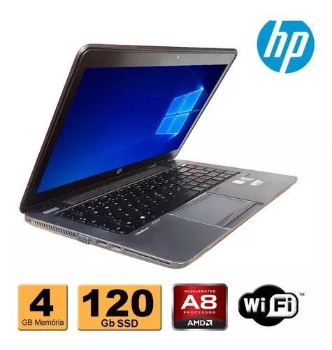 Notebook hp 745 amd 7150 4gb ddr3 ssd 120gb refurbished