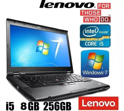 Notebook lenovo t430 core i5 3 ger 8gb ssd 240gb promoção