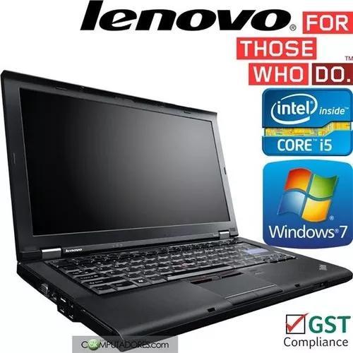 Notebook lenovo thinkpad i5 4gb 500gb win 7 pro garantia