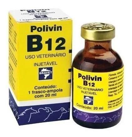 Polivin b12 injetável 20 ml   polivitamínico uso