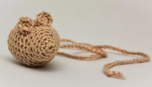 Ratnip ratinho de brinquedo de crochet com catnip para gatos