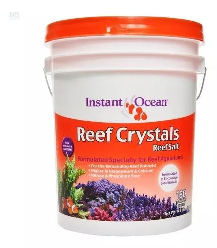 Sal tetra reef crystals instant ocean sal marinho 20,3kg