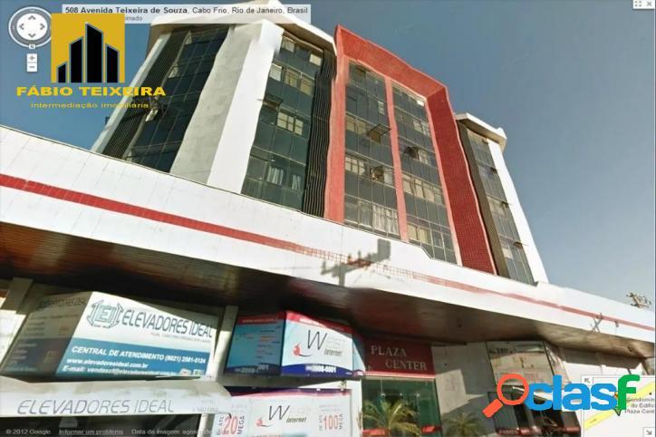 Apartamento com 1 dormitório à venda, 65 m² por r$ 365.000 - centro - cabo frio/rj