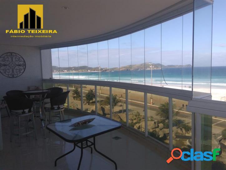 Apartamento com 3 dormitórios à venda, 160 m² por r$ 3.180.000 - praia do forte - cabo frio/rj