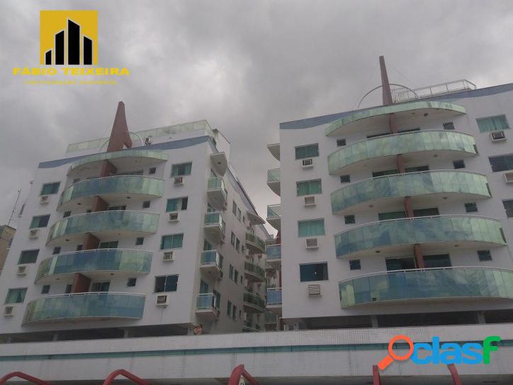 Apartamento com 1 dormitório à venda, 60 m² por r$ 585.000 - praia do forte - cabo frio/rj