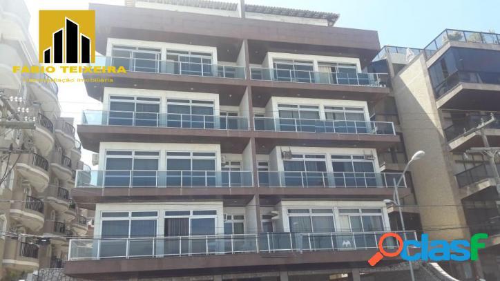Apartamento com 2 dormitórios à venda, 80 m² por r$ 800.000 - praia do forte - cabo frio/rj