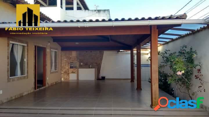 Casa com 4 dormitórios à venda, 225 m² por r$ 880.000 - jardim flamboyant - cabo frio/rj