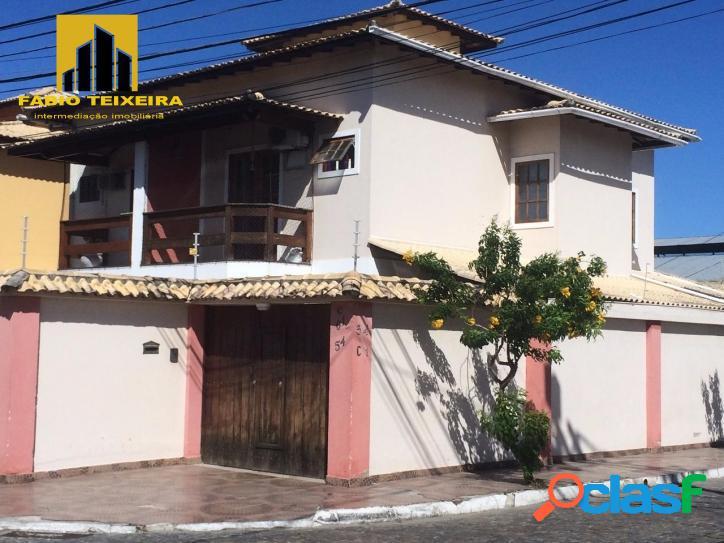 Casa com 2 dormitórios à venda, 95 m² por r$ 540.000 - palmeiras - cabo frio/rj