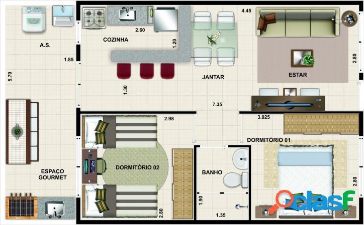 Casa em condomínio praia. facilitada! itanhaém-sp