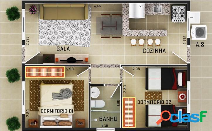Casa na praia em condomínio facilitada!!!. itanhaém-sp