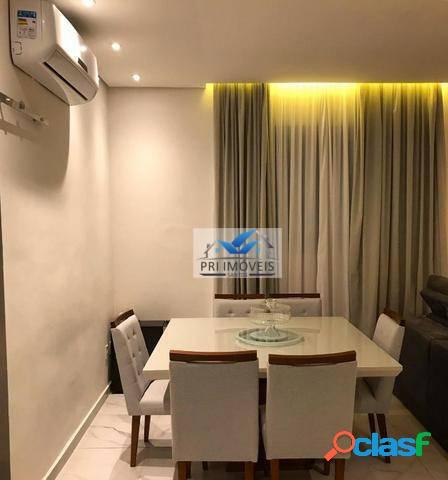 Apartamento à venda, 72 m² por r$ 383.000,00 - boqueirão - santos/sp
