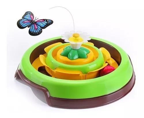 Brinquedo gato borboleta giratoria cat spin truqys