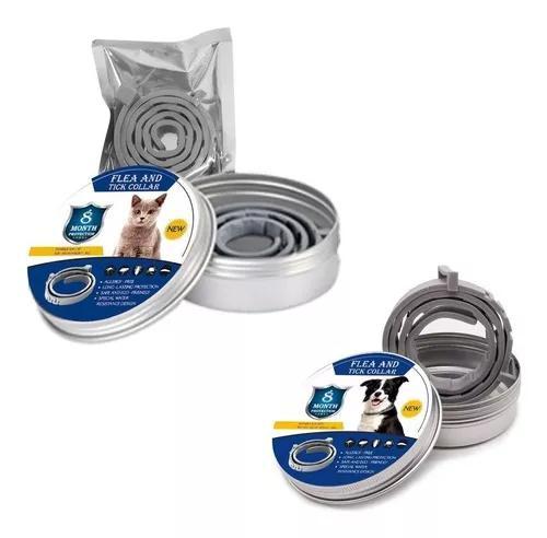 Coleira antipulgas para cães e gatos carrapaticida piolhos
