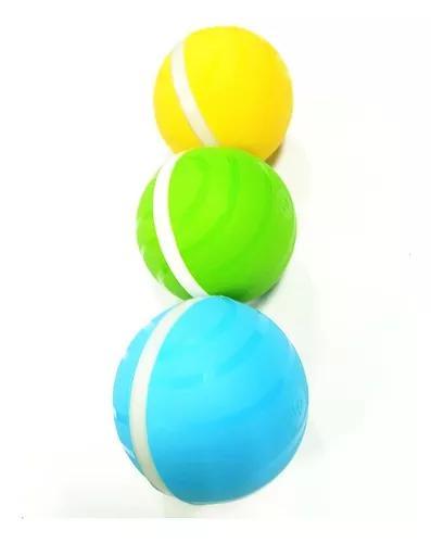 Inteligente interativo pet ball led auto rolando flash bola