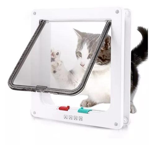 Porta pet para gato e cão flap 4 funções door tam g