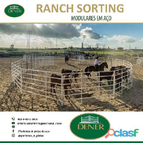 Porteiras, cancelas, mata burros, redondel, pista de ranch sorting, baias e bretes 10