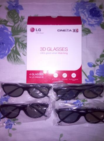 4 óculos 3d p/tv lg ou pc //pra vender hoje //aceito