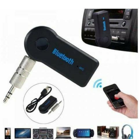 Adaptador bluetooth p2 recarregável auxiliar viva voz