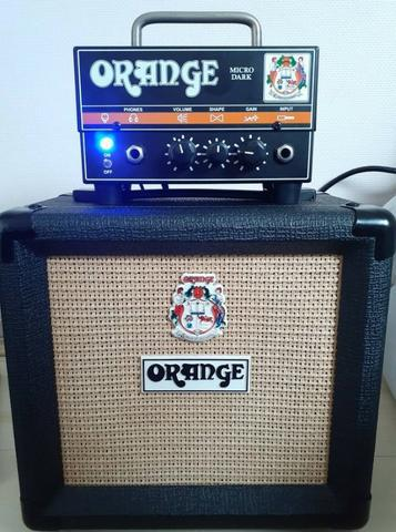 Amplificador orange micro dark 20w (cabeçote + gabinete)