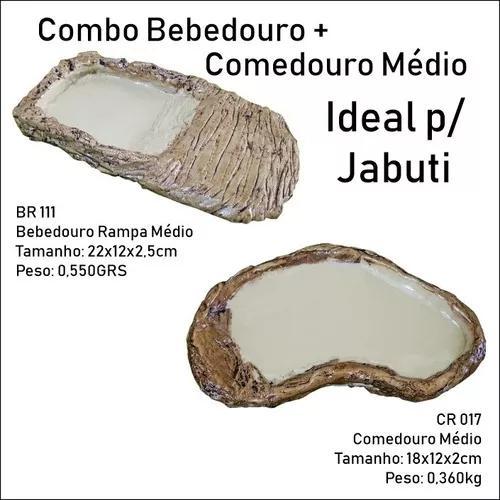 Br 111 + cr 017 bebedouro e comedouro médio jabuti