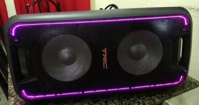 Caixa de som amplificada trc 518 com bluetooth - 600w