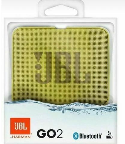 Caixa de som jbl go 2, yellow, bluetooth, a prova d'água,