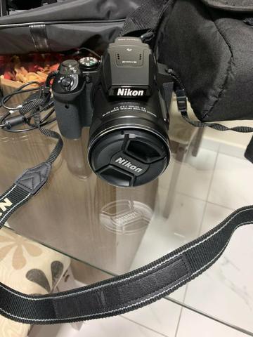 Câmera nikon p900 16mp 83x zoom óptico