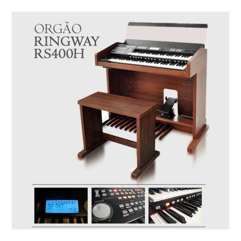 Excelente órgão eletrônico digital ringway rs400