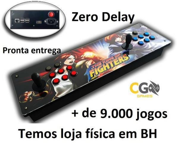 Fliperama portátil zero delay com + 9.000 jogos e garantia
