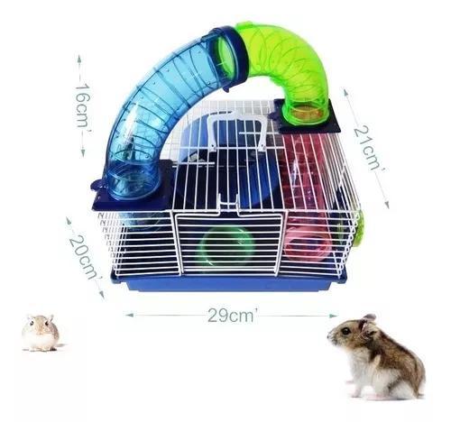 Gaiola hamster tubos divertidos mini