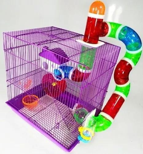 Gaiola labirinto 3 andares hamster roedores única com
