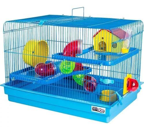Gaiola para hamster grande 2 andares space jel plast tubo