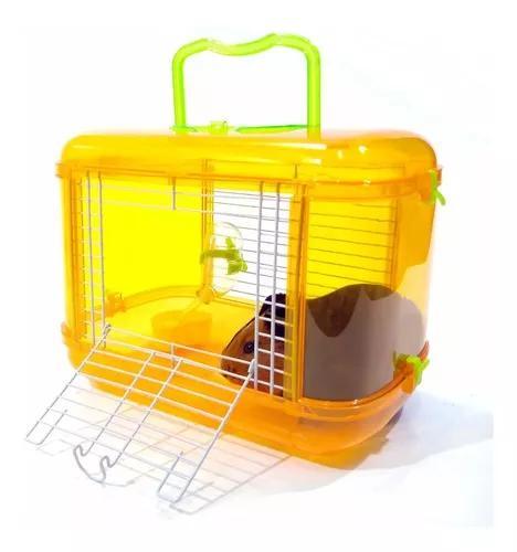 Gaiola transporte acrílico porquinho índia hamster sírio