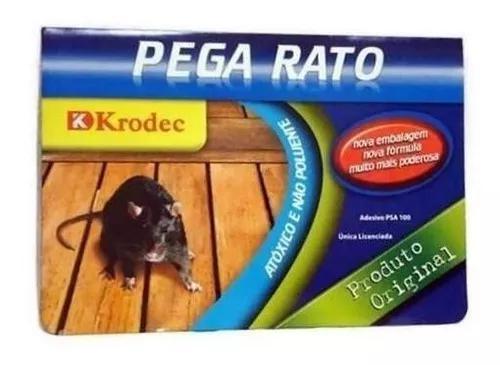 Kit 3 ratoeira adesiva de cola - pega rato ratazana e barata