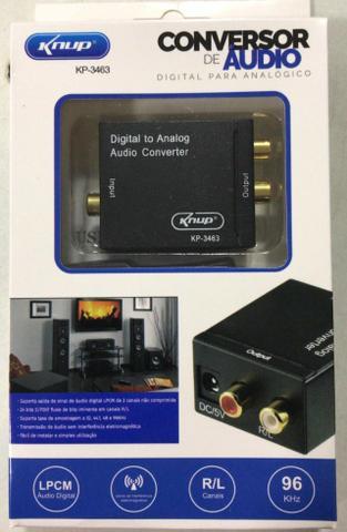 Kit conversor de audio digital optico para rca analogico