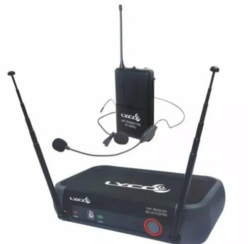 Microfone lapela sem fio lyco vh102pro-hl headset aceito