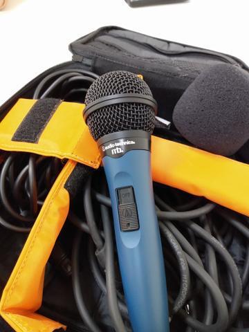 Microfone cabos case ac troca